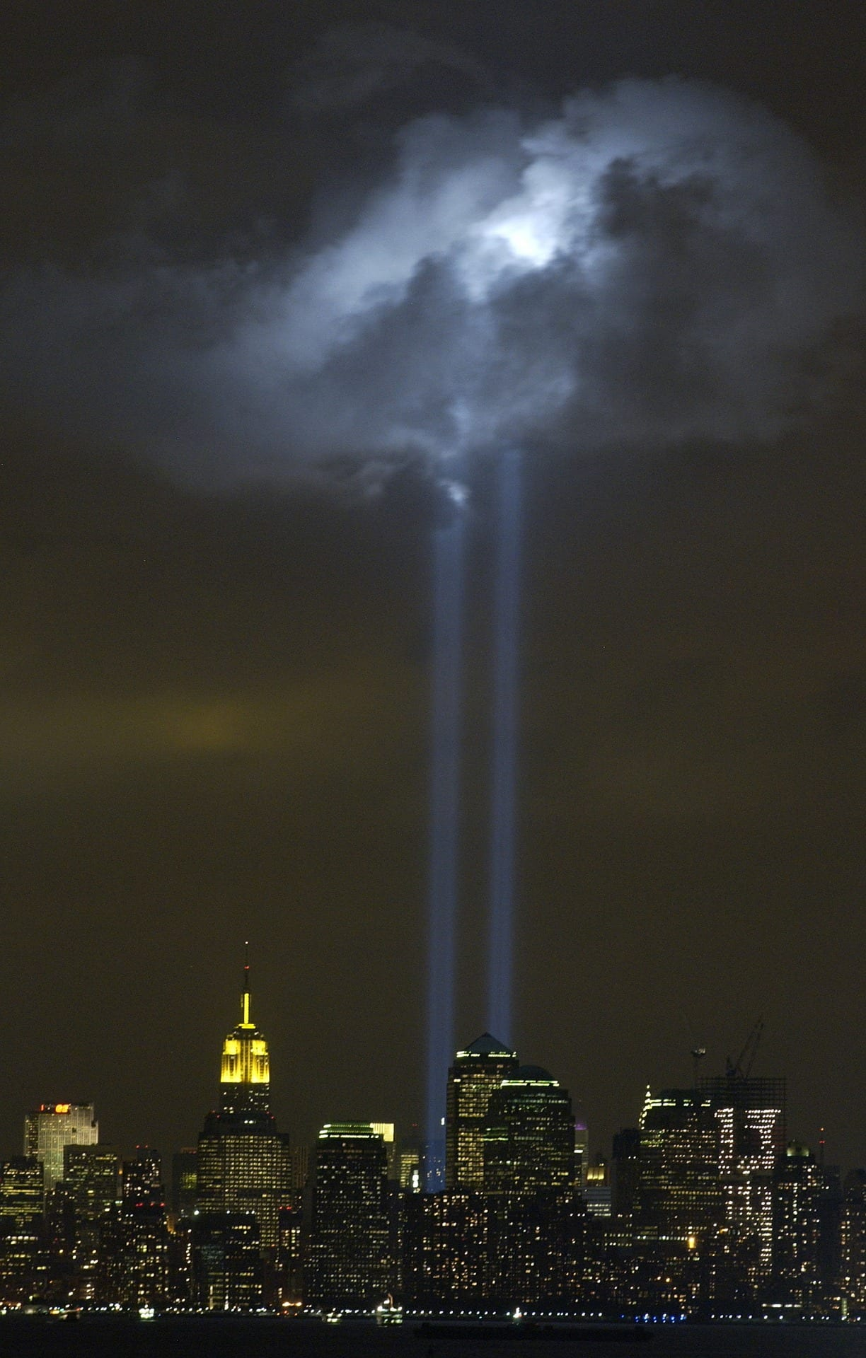 tribute in light memorial for 9/11