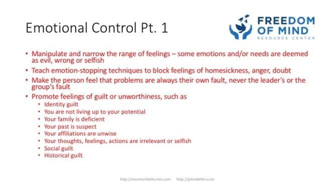 Emotional Control part 1 slide