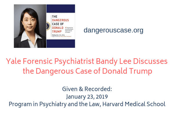 Yale Forensic Psychiatrist Bandy Lee Discusses the Dangerous Case of Donald Trump