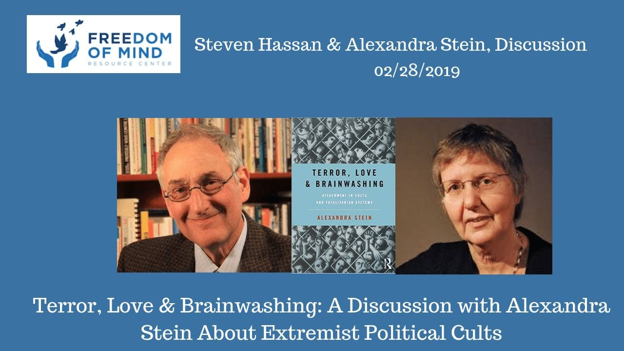 Terror, Love & Brainwashing: A Discussion with Alexandra Stein About Extremist Political Cults