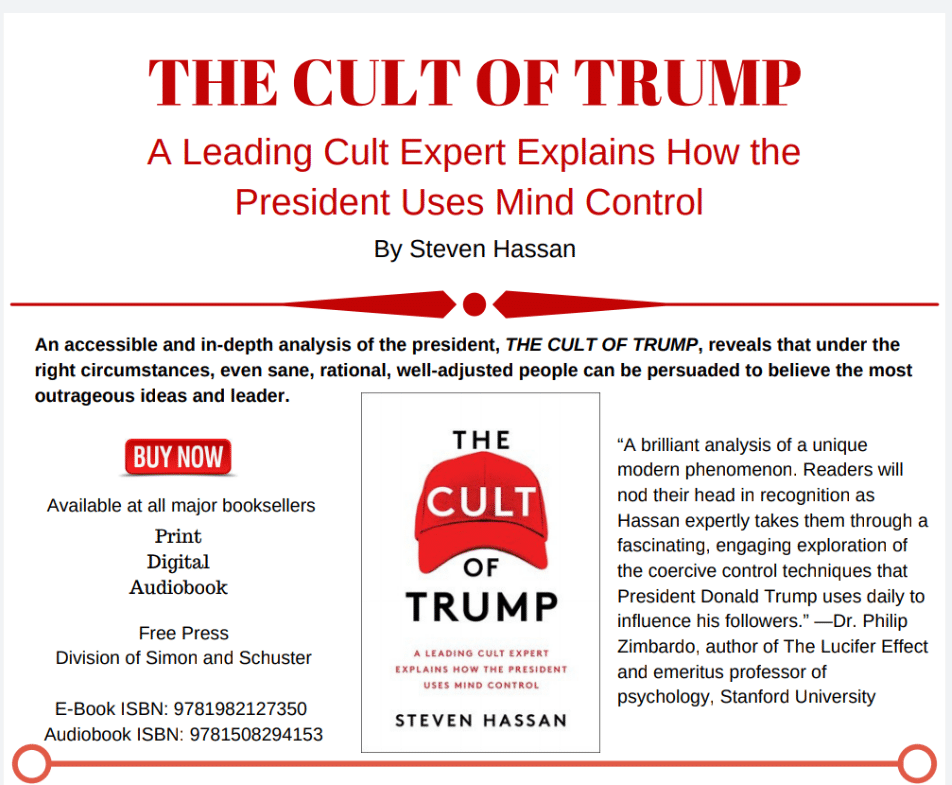 Help Promote Awareness About The Cult of Trump and Make a Difference